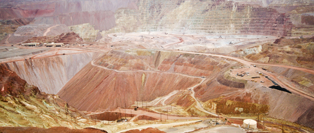 freeport: MORENCI, ARIZONA, JULY 17. The Morenci Mine on July 17, 2015, in Morenci, Arizona. A panoramic view of the Morenci mine, a large copper mine located in Arizona.