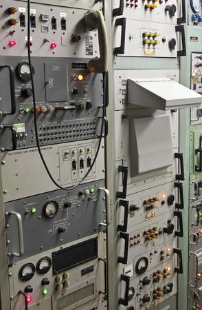 control center: SAHUARITA, ARIZONA, JULY 22. The Titan Missile Museum on July 22, 2015, in Sahuarita, Arizona. A Titan Missile Museum Control Center Panel in Sahuarita in Arizona. Editorial