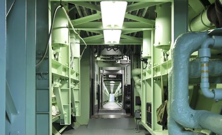 titan: SAHUARITA, ARIZONA, JULY 22. The Titan Missile Museum on July 22, 2015, in Sahuarita, Arizona. A Titan Missile Museum Long Underground Cableway in Sahuarita in Arizona. Editorial