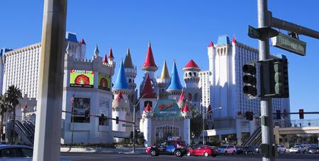 tropicana: LAS VEGAS, NEVADA, DECEMBER 28. Las Vegas Blvd on December 28, 2015, in Las Vegas, Nevada. The Excalibur Hotel and Casino at Tropicana and Las Vegas Boulevard in Las Vegas, Nevada.