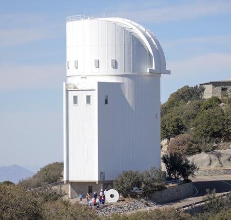 tucson: TUCSON, ARIZONA, FEBRUARY 28. Kitt Peak National Observatory on February 28, 2016, near Tucson, Arizona. A group tours the Steward Observatory at Kitt Peak National Observatory near, Tucson, Arizona.