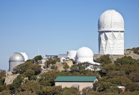 tucson: TUCSON, ARIZONA, FEBRUARY 28. Kitt Peak National Observatory on February 28, 2016, near Tucson, Arizona. A view of five of the large telescopes at Kitt Peak National Observatory near Tucson, Arizona.