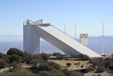 research facilities: TUCSON, ARIZONA, FEBRUARY 28. Kitt Peak National Observatory on February 28, 2016, near Tucson, Arizona.  A view of the McMath-Pierce Solar Telescope Facility at Kitt Peak National Observatory. Editorial