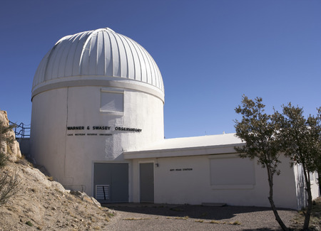 warner: TUCSON, ARIZONA, FEBRUARY 28. Kitt Peak National Observatory on February 28, 2016, near Tucson, Arizona.  A view of the Warner & Swasey Observatory at Kitt Peak National Observatory near Tucson, Arizona.