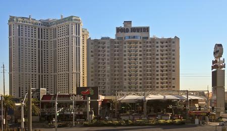 pete: LAS VEGAS, NEVADA, DECEMBER 28. Las Vegas Blvd on December 28, 2015, in Las Vegas, Nevada. The Polo Towers by Diamond Resorts International on Las Vegas Boulevard in Las Vegas, Nevada. Editorial