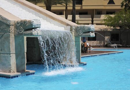 caribe: LAS VEGAS, NEVADA, MAY 23. The Cancun Resort on May 23, 2016, in Las Vegas, Nevada. The Mayan waterscape at the Cancun Resort in Las Vegas, Nevada.
