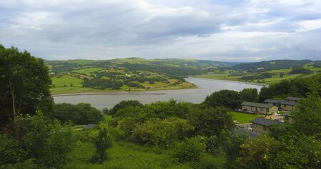A View of the River Conwy from a Static Caravan Park in Wales, UK