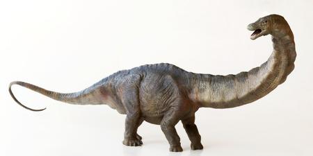 Een Tornado Dinosaurus van de Apatosaurus, waarvan de naam bedrieglijke hagedis betekent Stockfoto