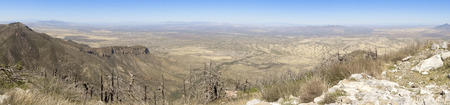 An Aerial Panorama of the San Pedro Valley Area, Arizona, from Miller Peak, Huachuca Mountains