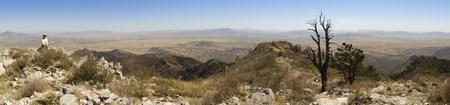 An Aerial Panorama of Sonora, Mexico, from Miller Peak, Huachuca Mountains, Arizona