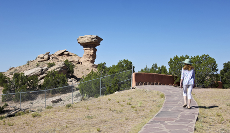 A View of Camel Rock After the Nose Fell Off in Tesuque, New Mexico