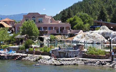 PAGOSA SPRINGS, COLORADO, JUNE 23. The Springs Resort & Spa on June 23, 2017, in Pagosa Springs, Colorado. A View of The Springs Resort & Spa in Pagosa Springs, Colorado. Editorial