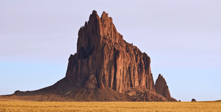 A Close Up of Shiprock, New Mexico, on the Navajo Reservation, west of the town of Shiprock.