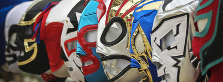 A Colorful Assortment of Lucha Libre Luchador Masks Editorial