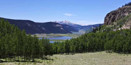A Scenic View of the Headwaters of the Rio Grande River in the San Juan Mountains of Colorado