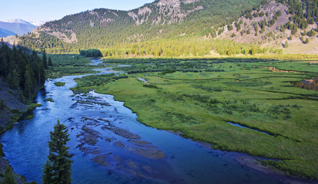 cristobal: A Delta Where the Lake Fork of the Gunnison River Flows into Lake San Cristobal on the Alpine Loop Backcountry Byway near Lake City in Colorado.