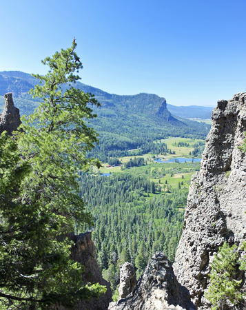 A Scenic View from the West Fork of the San Juan River Valley Overlook in Colorado Between Wolf Creek Pass and Pagosa Springs