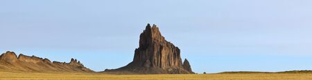 A Panorama of Shiprock, New Mexico, on the Navajo Reservation, west of the town of Shiprock.