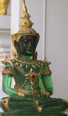 A Jade Buddha statue from Chiang Mai, Thailand. 写真素材