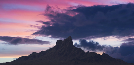 A Picacho Peak State Park Sunset Shot near Picacho, Arizona, USA