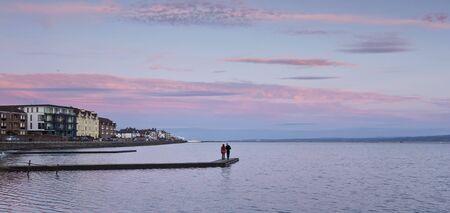 A Marine Lake at Sunset, West Kirby, England, United Kingdom