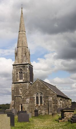 A St Edwens Church Scene, Llanedwen, Anglesey, Wales, Great Britain, United Kingdom