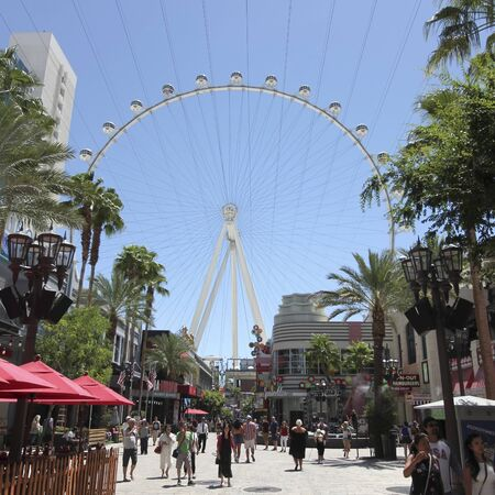 LAS VEGAS, NEVADA, JULY 3. The High Roller on July 3, 2019, in Las Vegas, Nevada. The High Roller Ferris Wheel, Las Vegas, Nevada, USA. Editorial