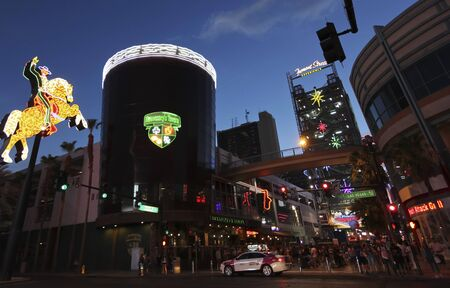 LAS VEGAS, NEVADA, JULY 3. Fremont Street Experience Entrance on July 3, 2019, in Las Vegas, Nevada. A Fremont Street Experience Entrance, Las Vegas, Nevada, USA.