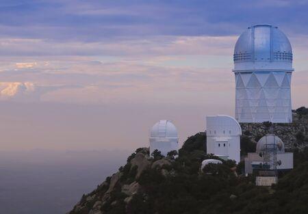TUCSON, ARIZONA, SEPTEMBER 7. Kitt Peak National Observatory on September 7, 2019, near Tucson, Arizona. A view of four of the large telescopes at Kitt Peak National Observatory near Tucson, Arizona, United States of America. Editorial