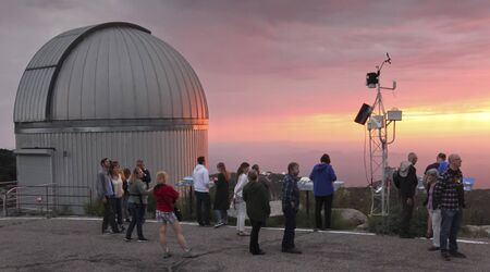 TUCSON, ARIZONA, SEPTEMBER 7. Kitt Peak National Observatory on September 7, 2019, near Tucson, Arizona. A Nightly Observing Program Tour at the SARA Telescope at sunset, Kitt Peak National Observatory, Tucson, Arizona, United States of America.