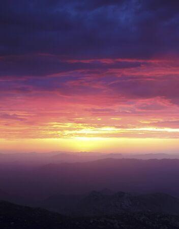 A Sunset from Atop Kitt Peak, Tucson, Arizona, United States of America
