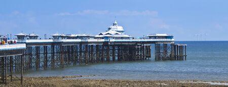 LLANDUDNO, WALES, JUNE 10. The Pier on June 10, 2019, in Llandudno, Wales. A Sunny Day on Llandudno Pier in the Seaside Resort Town of Llandudno, Wales, Great Britain, United Kingdom.