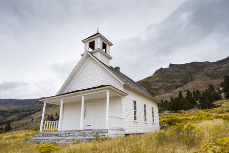 Old School House or Church in field near Summer Lake Oregon