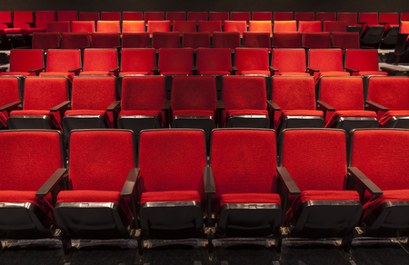 seating: Rows of Red Theater Seating