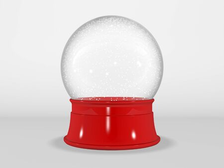 3d rendered illustration of an empty snow globe isolated on a white background. 版權商用圖片