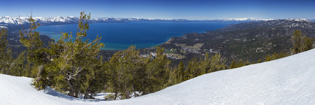 Lake Tahoe Panoramic Overlook in Winter from Heavenly 版權商用圖片