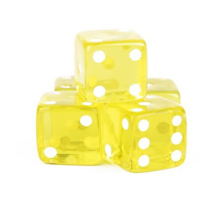 Yellow Dice Cutout