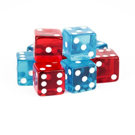 Blue and Red Dice Cutout