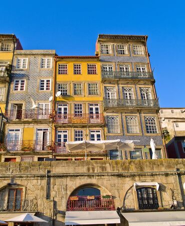 typical narrow houses of Porto, Portugal photo