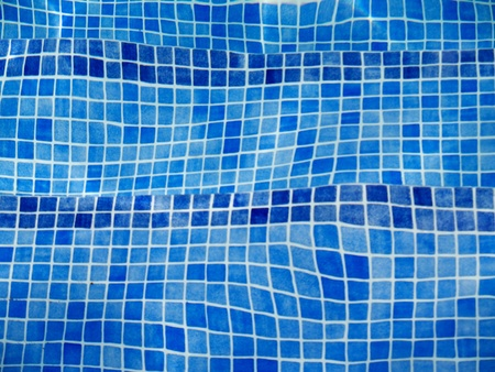 bottom: distorted by water pool tiles background