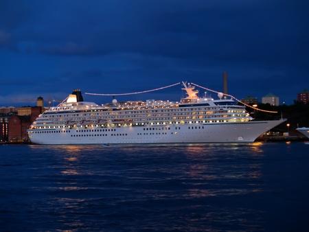 ships at the center of Stockholm, Sweden photo