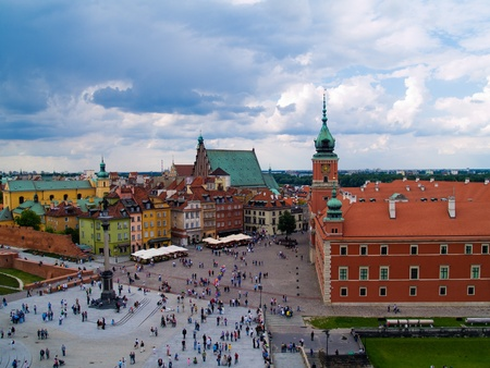 Old town square, Warsaw, Poland Stock Photo