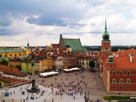 Oude stadsplein, Warsaw, Polen