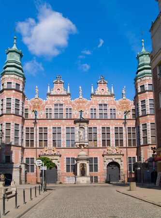 armory: old baroque style great armory Gdansk, Poland