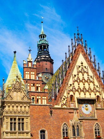 old gothic city hall of Wroclaw, Poland photo