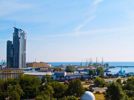 centrum miasta portowego w Gdyni w Polska
