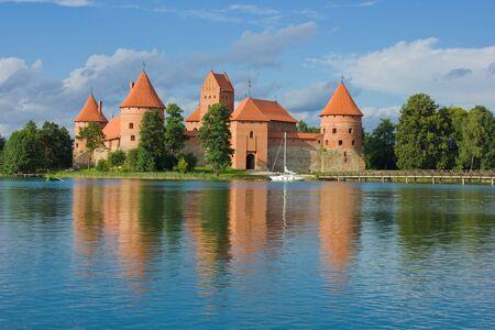 lithuania: old castle on Galve lake, Trakai, Lithuania Stock Photo