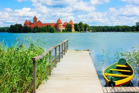 lithuania: Lake Galve in Trakai, Lithuania Stock Photo