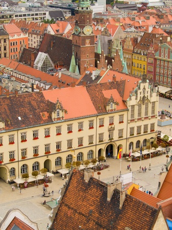 market square and city hall, Wroclaw, Poland photo