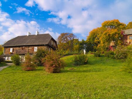 Polish countryside at autumn, Lublin, Poland  photo